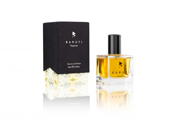 Baruti Voyance perfume with box tuberose and vetiver